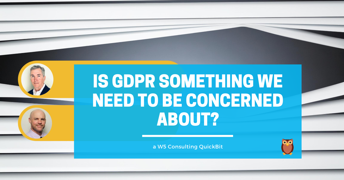 concerned about GDPR