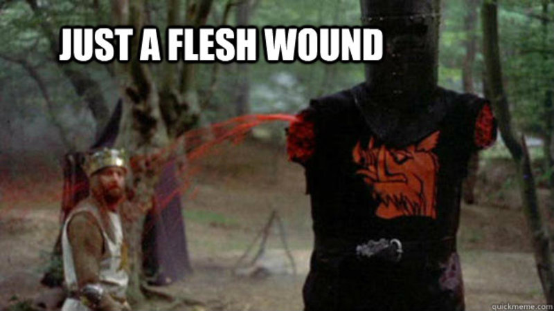 Blog - just a flesh wound